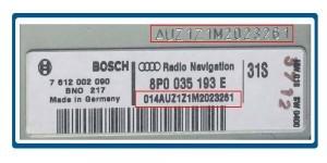 Audi Code Serial