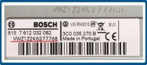 VW Serienummer